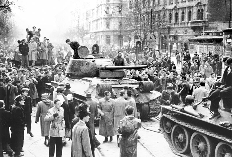 Weekday during the revolution in Budapest, 1956 October